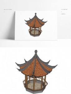 草图大师凉亭SU模型