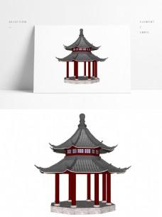 传统中式凉亭草图大师模型