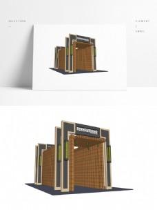 现代中式廊亭SU模型