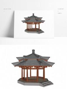 古典双层亭SU模型