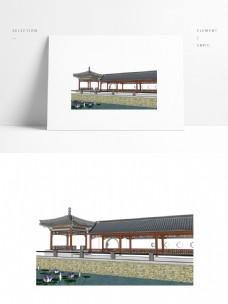 古典中式廊亭SU模型