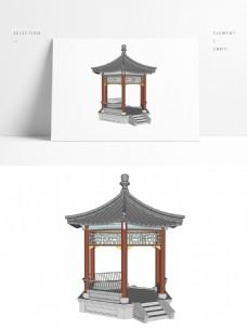 中式凉亭SU三维模型