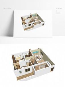美式风格住宅SU透视模型