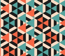 三角形品色几何平铺