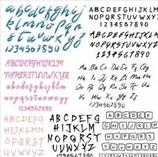 泼墨书法艺术英文字体