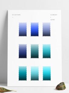 蓝青色渐变预设工具GRD