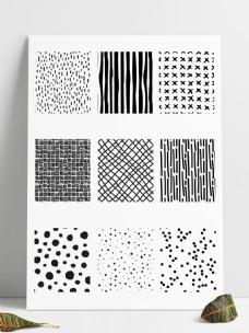 九种墨点图案填充pat文件