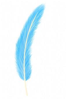 一根蓝色羽毛