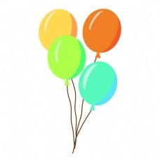 彩色漂浮气球