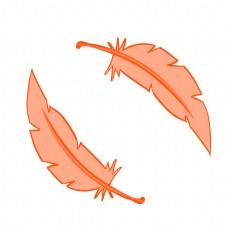 红色图案羽毛