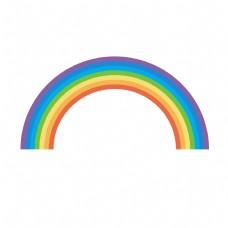 儿童节卡通彩虹元素