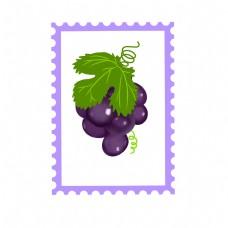 葡萄邮票装饰