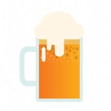 夏季清凉啤酒元素