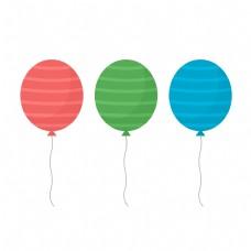 儿童节卡通彩色气球元素