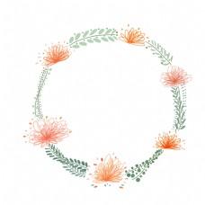 夏日装饰小花圈
