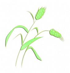 绿色图案麦穗设计