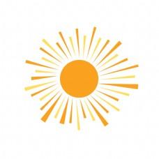 夏日沙滩太阳元素