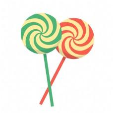 儿童节棒棒糖装饰物元素