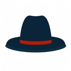 父亲节黑色礼帽元素