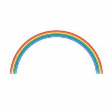 儿童节卡通七色彩虹元素