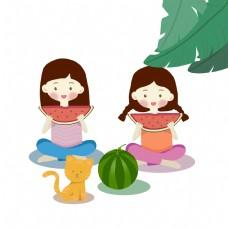 夏季吃西瓜