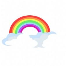 儿童节卡通彩虹云朵元素