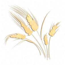 黄色成熟麦穗
