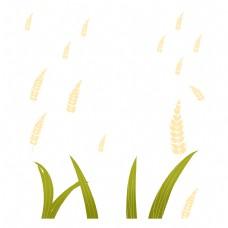 绿草与麦穗