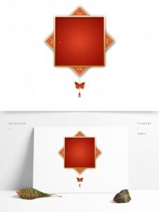 古风中国红色节日标题栏春节边框