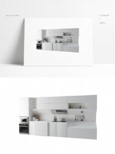 现代简约科技感厨房橱柜