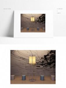 落地太灯设计模型