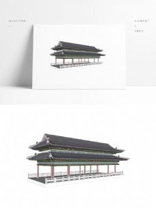 古典中式廊桥草图大师模型