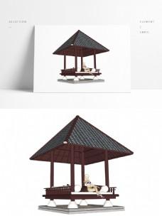 凉亭景观常用SU模型
