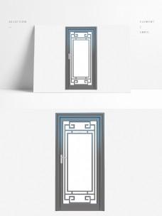 简约风格单开玻璃门
