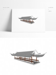 景观常用SU廊桥模型