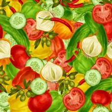 蔬菜涂鸦绘画