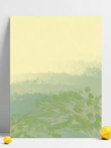 手绘简约水墨植物背景素材