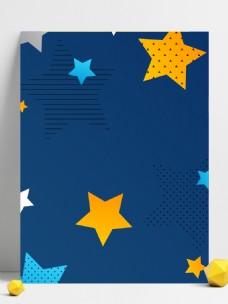 广告背景蓝色星星矢量元素