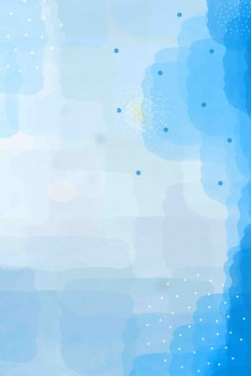 蓝色舒适梦幻水彩透明色块背景
