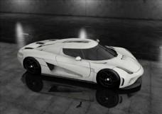 C4D模型白色轿跑默认渲染器