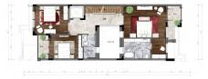 别墅二层彩色平面图