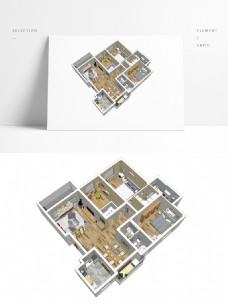 日式风格住宅SU透视模型