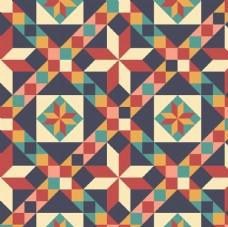 几何格子复古花砖