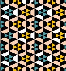 几何三角形平铺背景图