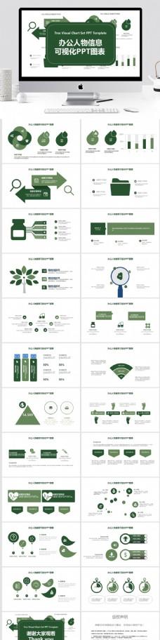 47办公人物信息可视化PPT图表
