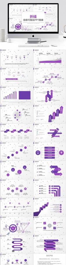 折線信息可視化PPT圖表