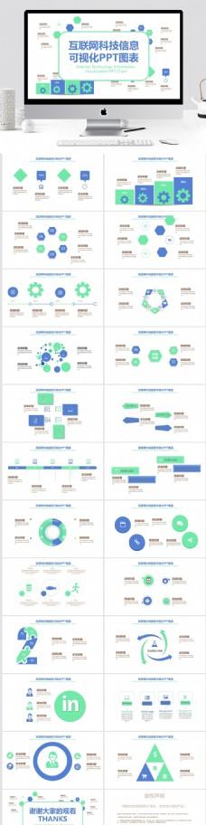 44互联网科技信息可视化PPT图表