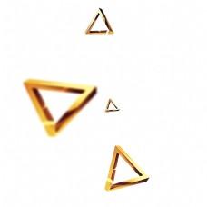 金色创意漂浮三角形元素