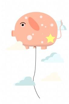 漂浮大猪气球