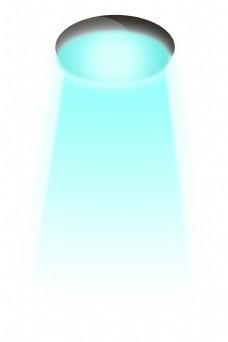 浅蓝色灯光展示